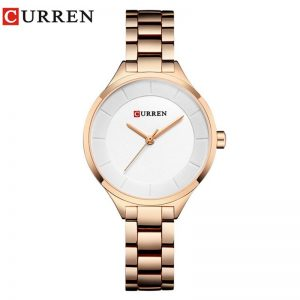 Curren Women Watches 2020 Luxury Gold White Full Steel Dress Jewelry Quartz Watch Ladies Fashion Elegant Clock Relogio Feminino