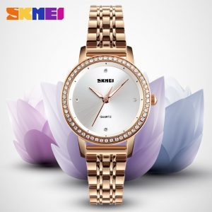 SKMEI Women Fashion Quartz Watch Business Luxury Stainless Steel Ladies Clock Watches Female Top Brand 2020 reloj mujer 1311