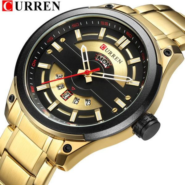 Relogio Masculino CURREN Mens Watches Luxury Top Brand Men's Fashion Casual Steel Watch Military Quartz Wristwatch Reloj Hombres