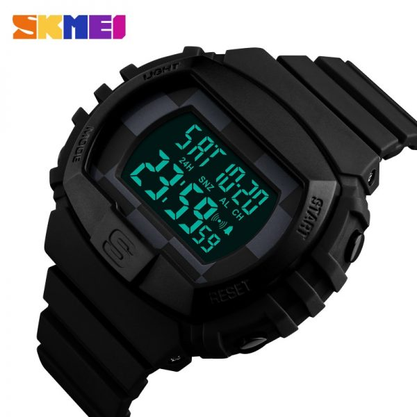 SKMEI Outdoor Sports Men Watches Military Electronic Alarm Clock 50M Waterproof Digital Male Wristwatches Relogio Masculino 1304