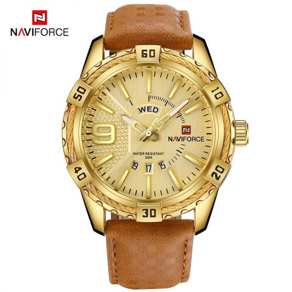 Brand NAVIFORCE Men Watch Gold luxury Sports Waterproof Military Wrist Watch Male Clock Business Watches Mens Relogio Masculino