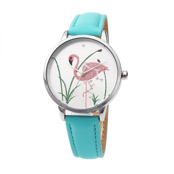 Feminino Women Watches Tropical Pattern Band Clock Dial Bracelet Quartz Wristwatch Montre Femme