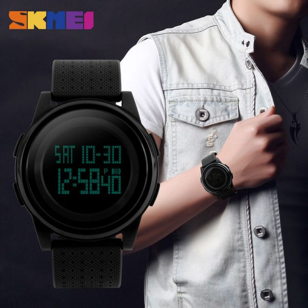 SKMEI LED Display Men Digital Watch Outdoor Waterproof Sports Watches Stopwatch Alarm Wristwatches Clock Relogio Masculino 1206