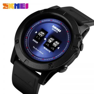 SKMEI Creative Drum Dial Men Quartz Watches Casual 50M Waterproof Male Wristwatch Relogio Masculino Men's watches Clock 1546