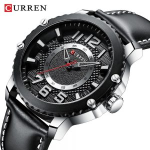 CURREN Men Watches Fashion Casual Leather Strap Quartz Wristwatch Top Luxury Brand Waterproof Military Clock Relogio Masculino