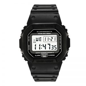 Digital Sports Watches Men Clocks Alarm Chrono 5ATM Waterproof 44mm Big Dial