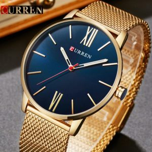 CURREN Top Brand Mens Watches Luxury Quartz Casual Watch Men Stainless Steel Mesh Clock relogio masculino 8238 Drop Shipping