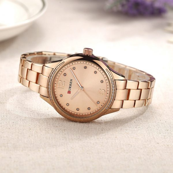 CURREN Brand Fashion Dress Quartz Ladies Watch Crystals Full Steel Women's Wristwatches Women Gifts Clock Relogio Feminino 9003