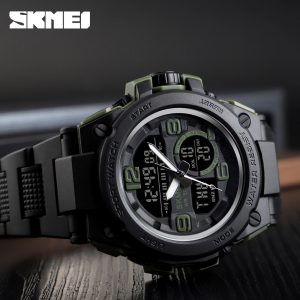 SKMEI Luxury Men Analog Digital Watch Army Military Sports Watches 5Bar Waterproof Male Wristwatch Clock Relogio Masculino 1452