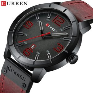 Fashion Mens Watches Curren Brand Luxury Leather Quartz Men Watch Casual Sport Clock Male Men Military Watches Relogio Masculino