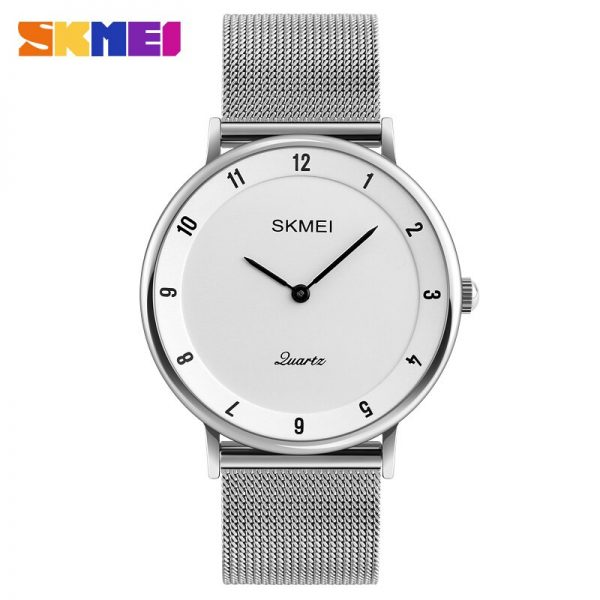 SKMEI Simple Men Quartz Watch Luxury Stainless Steel Male Wrist Watches Man Clock Relogio Masculino relojes para hombre 1264