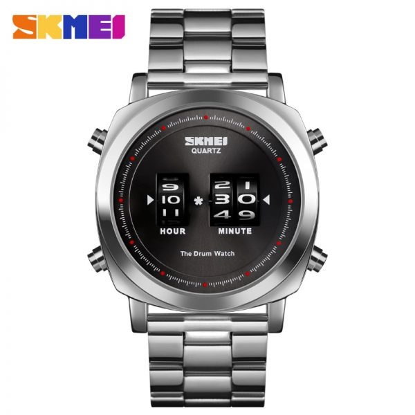 SKMEI Japan Quartz movement Men's watches Top Brand Luxury Stainless Steel Bracelet Male Business Wrist watch Clock reloj hombre