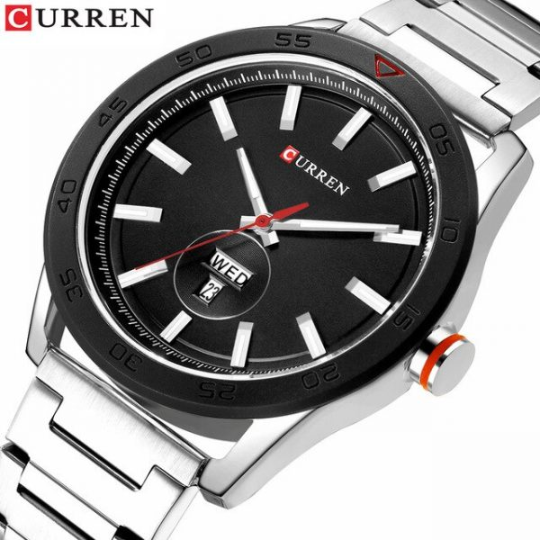 CURREN Top Brand Luxury Watches Mens Casual Quartz Watch Male Clock Fashion Stainless Steel Band Waterproof Wristwatch with Week