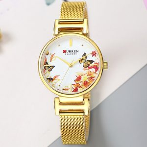 CURREN Stainless Steel Women Watch Fashion Top Brand Quartz Ladies Wristwatch bayan kol saati 9053 Clock Female Beautiful Gift