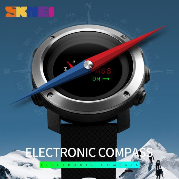 SKMEI Outdoor Military Men Sports Watches Pedometer Calorie Stopwatch Compass Alarm Waterproof Male Clock Relogio Masculino 1336