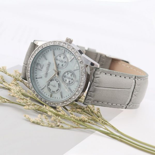 Luxury Woman Watch Diamond Watches Dress Quartz Watch Female Genuine Leather Strap WristWatch reloj hombre
