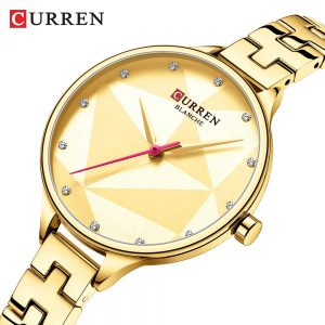 CURREN Classic Fashion Quartz Women Watches Creative Design Wristwatch Stainless Steel Female Clock Ladies Dress Bracelet Watch