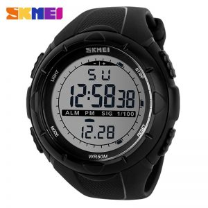 SKMEI Men LED Digital Military Watch Man Sports Watches Outdoor 5Bar Waterproof Wristwatches Male Clock Relogio Masculino 1025