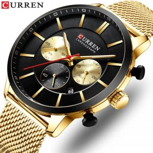 New CURREN Fashion Watch Men Chronograph Quartz Business Mens Watches Top Brand Luxury Waterproof Wrist Watch Reloj Hombre Saat