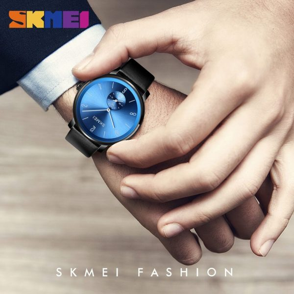 2020 SKMEI Simple Quartz Mens Watches Top Brand Luxury Male Wristwatches Genuine Leather Strap Business Clock reloj hombre 1398