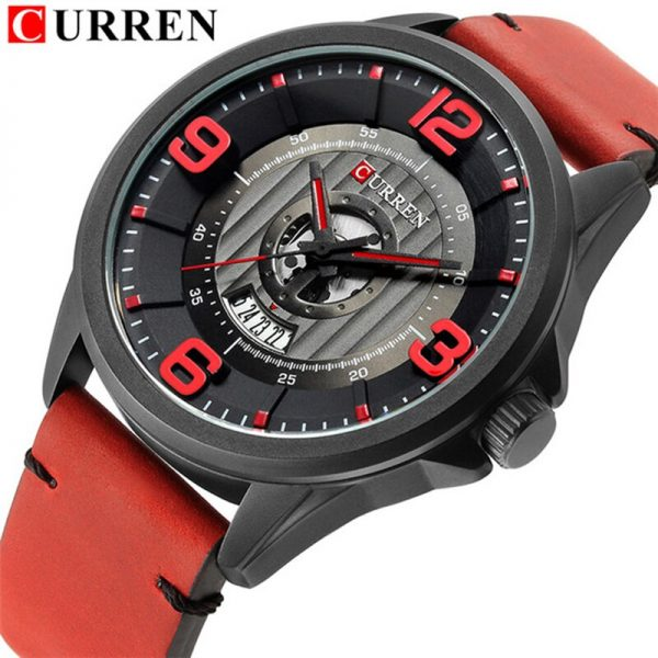CURREN Fashion&Casual Business Wristwatches Leather Strap Quartz Mens Watches Display Date Clock Hodinky Relogio Masculino