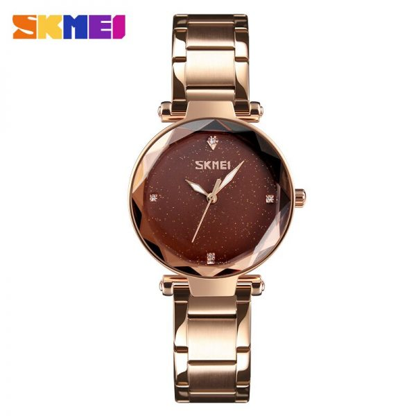 SKMEI Top Brand Women's watch Classic Ladies Quartz Watch 30M Waterproof Female Wristwatch Simple Montre Femme reloj mujer 9180