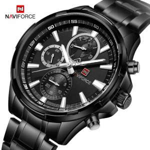 NAVIFORCE Men's Creative Watche Men Top Brand Luxury Full Steel Quartz Wristwatch Male Sport Clock watches Relogio Masculino
