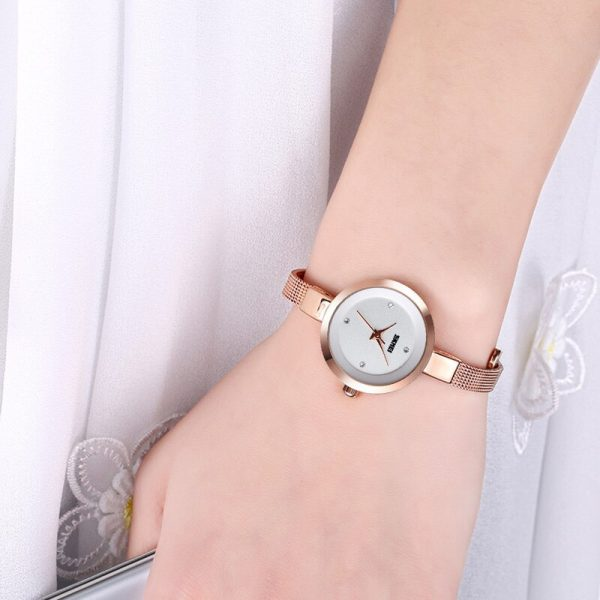 SKMEI Super Slim Women Watch Fashion Quartz Watches Top Brand Luxury Casual Clock Ladies Wrist Watch Lady montre femme 1390