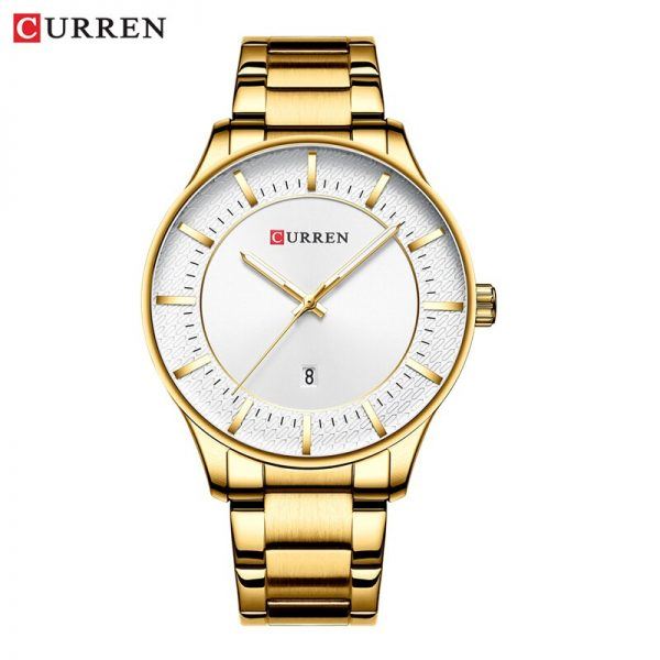 CURREN Relogio Masculino Fashion Male Clock Men Stainless Steel Band Watch Men Quartz Wristwatch with Date Casual Business Gift