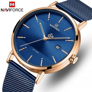 NAVIFORCE Men Watch Top Brand Simple Business Men's Watches Stainless Steel Waterproof Quartz Wrist Watch Men Relogio Masculino
