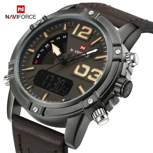 NAVIFORCE Men's Top Brand Luxury Digital Quartz Watch Men Sport Military Wristwatch Male Casual Clock Watches Relogio Masculino