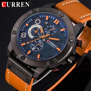 CURREN Chronograph Sport Man Watch Men's Watches Luxury Brand Leather Quartz Male Wristwatch Men Montre Homme Hodinky Clock