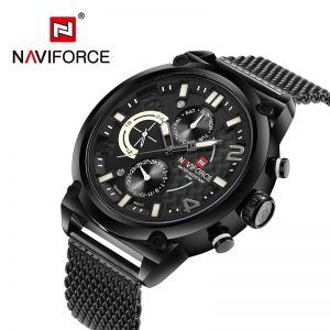 NAVIFORCE Men Watch Date Week Sport Mens Watches Top Brand Luxury Military Business Genuine Leather Quartz Male Clock Gift 9068