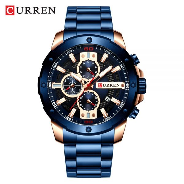 CURREN Luxury Quartz Wristwatch Men Sport Watches Relogio Masculino 8336 Stainless Steel Band Chronograph Clock Male Waterproof