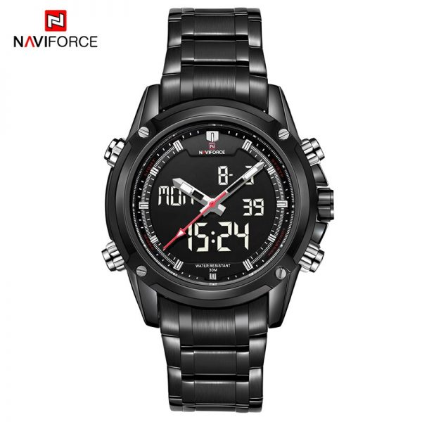 2019 Mens Watch Naviforce Men Quartz LED Digital Chronograph Sports Watches Army Military WristWatch Clock man Relogio Masculino