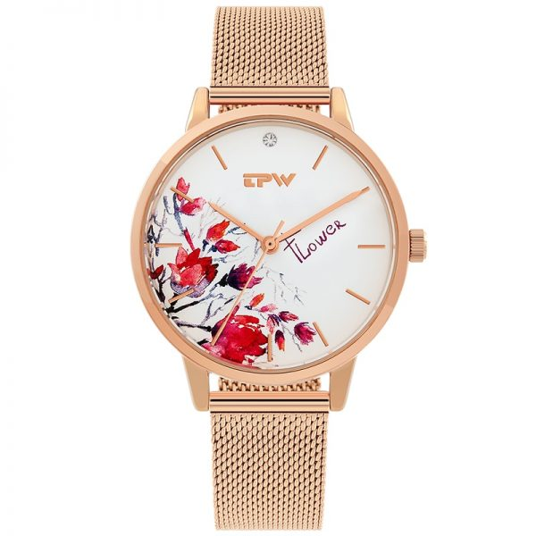 High Quality Rose Gold Women Watches Stainless Milan Mesh Strap Love Heart Quartz WristWatch Dress Ladies Luxury