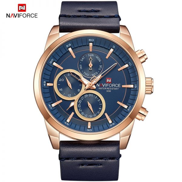 NAVIFORCE Mens Business Casual Watch Men Large Dial Waterproof Quartz Wristwatch Male Date Week Clock Watches Relogio Masculino