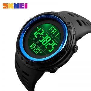 SKMEI 1251 5Bar Waterproof LED Man Digital Watch Military Sports Men's Watches Relogio Masculino Clock Relojes para hombre