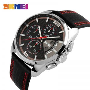 SKMEI Brand Luxury Men's Quartz Watch Calendar Stop Watch Sport Watches Waterproof Male Wristwatches Clock Relogio Masculino