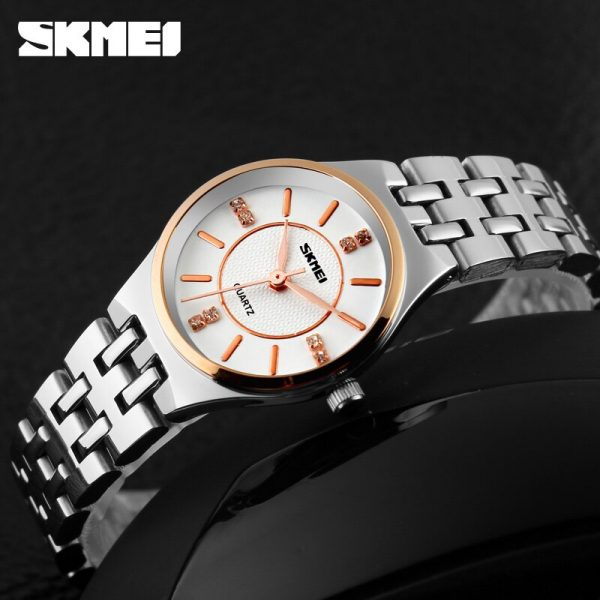 SKMEI Simple Women Quartz Watches Luxury Stainless Steel Strap Ladies Dress Clock Female Wristwatch Relogio Feminino 1133