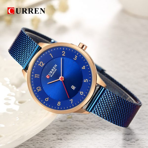 Curren Fashion women's watches Stainless Steel Gold watch women Curren Hot Selling Ladies Watch Quartz women watches 9035B