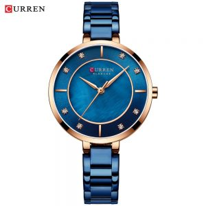 Women Watches CURREN Luxury Brand Stainless Steel Band Dress Ladies Quartz Wristwatch with Crystal Rhinestone Clock Female