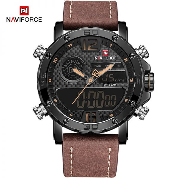 NAVIFORCE Men Sport Watches Fashion Casual Waterproof Military Quartz Wristwatch Male Analog Chronograph Clock Relogio Masculino