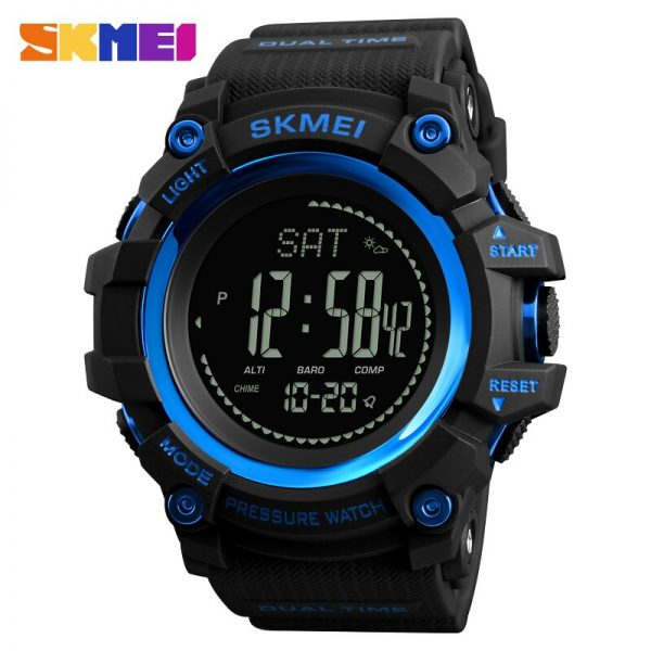 SKMEI Outdoor hiking Military Men's watch Pressure Measurement Stopwatch Sports Watches LED Display Male Electronic Clock 1358