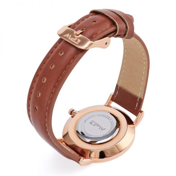 ultra thin pupular simple dial women watch water resistant 3ATM watch luxury classic daily casual watch for lady rose gold color