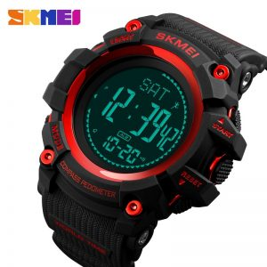 SKMEI Men Electronic Digita Watches Pedometer Calorie Compass Sports Watches 5Bar Waterproof Wristwatch Relogio Masculino 1356