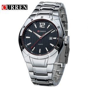 CURREN 8103 Luxury Brand Stainless Steel Strap Analog Display Date Men's Quartz Watch Casual Watch Men Watches relogio masculino