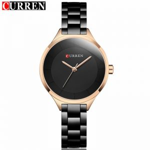 2020 Curren Women Watches Luxury Gold Black Full Steel Dress Jewelry Quartz Watch Ladies Fashion Elegant Clock Relogio Feminino