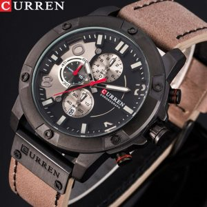 New Watches Men Luxury Brand CURREN Fashion Sports Wristwatch Chronograph Leather Strap Quartz Male Clock Relogio Masculino