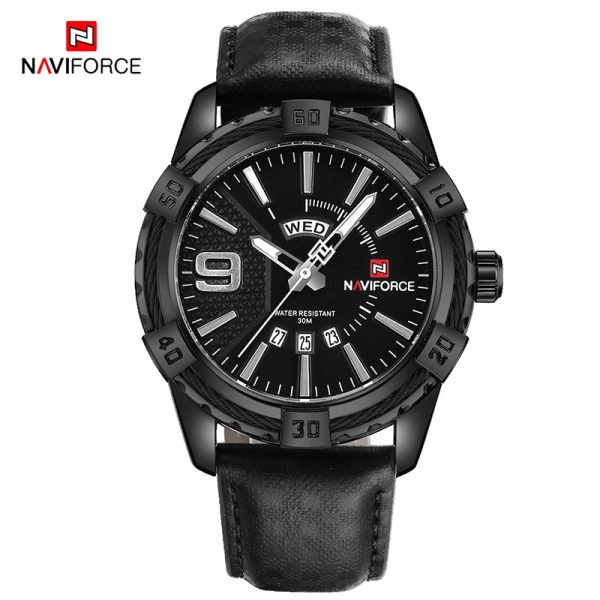 NAVIFORCE Luxurious Men Business Watch Leather Sports Waterproof Date Military Wrist Watch Male Clock Watches Relogio Masculino